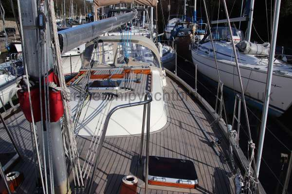 Classic Classic 45  Deck view - looking aft from the mast