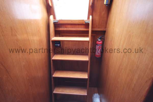 Classic Classic 45  The main companionway - this houses the aft heads