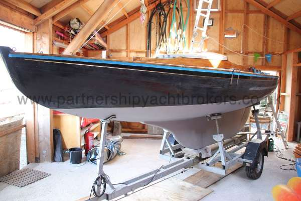 Classic Day Sailer with trailer Loch Long in storage -
