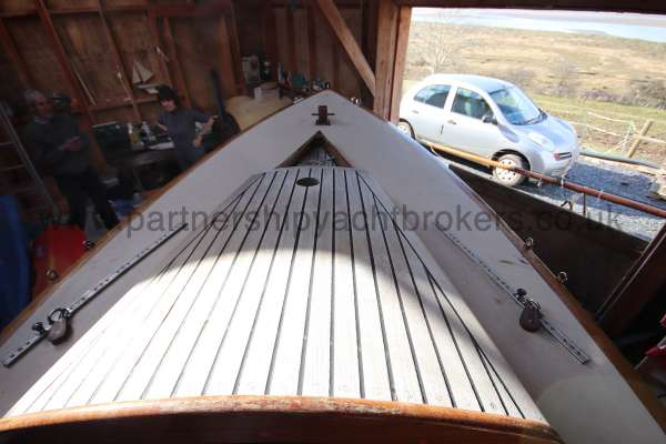 Classic Day Sailer with trailer Loch Long fore deck  -