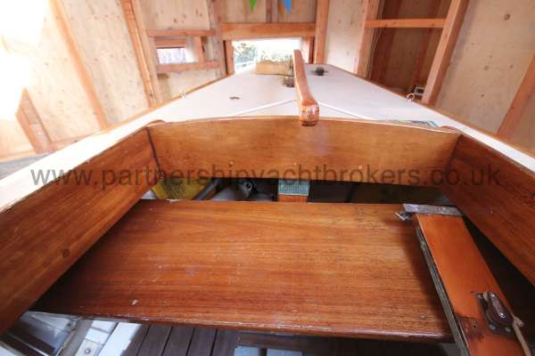 Classic Day Sailer with trailer Loch Long cockpit detail -