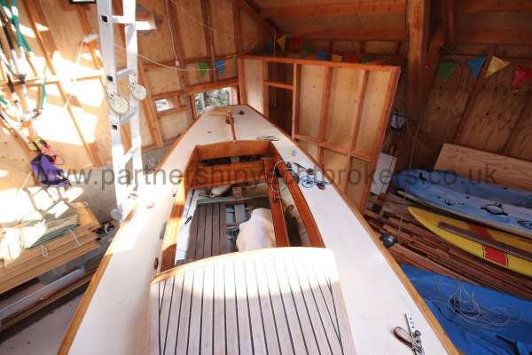 Classic Day Sailer with trailer Loch Long deck view  - looking aft