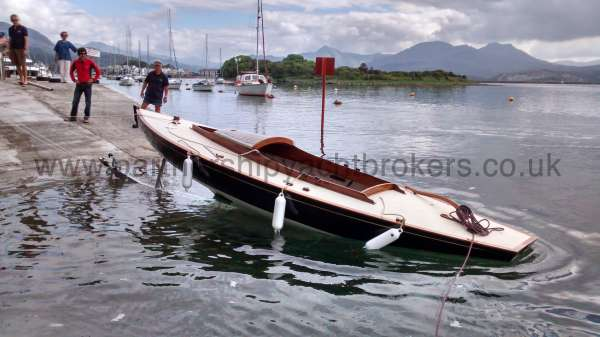 Classic Day Sailer with trailer Loch Long launching  - owners pic