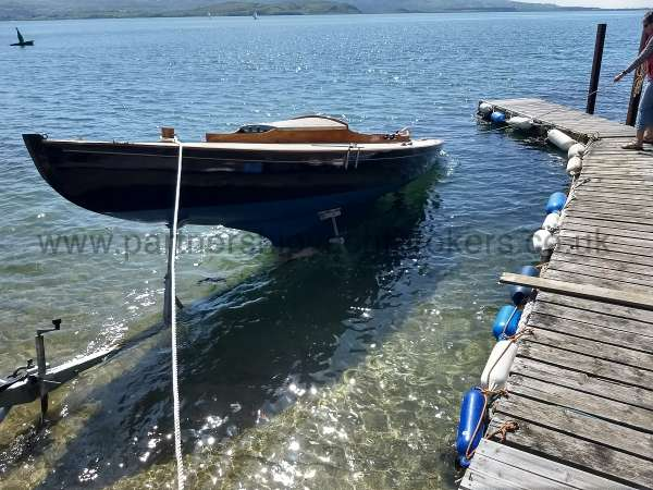 Classic Day Sailer with trailer Loch Long launch 2018 -