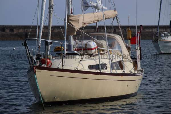 Folkboat Cruising Yacht Seen from the launch -