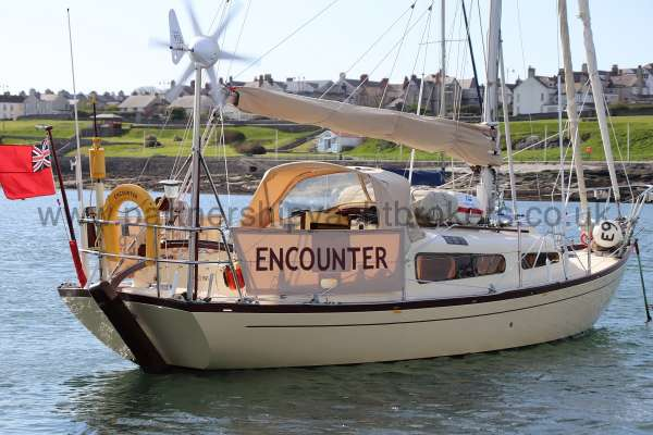 Folkboat Cruising Yacht Starboard quarter view -