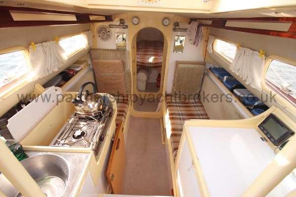 Folkboat Cruising Yacht The saloon - from the main hatch