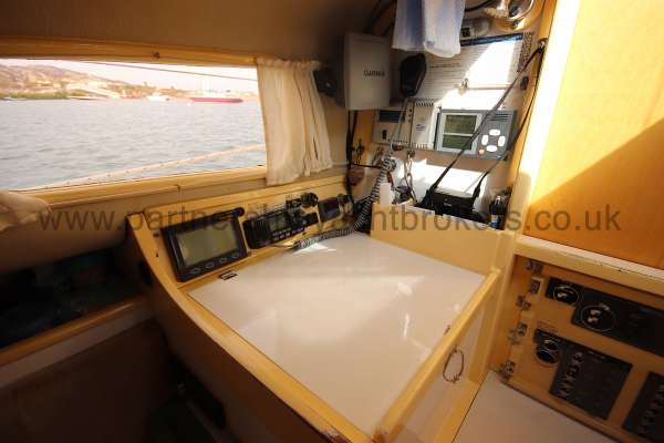 Folkboat Cruising Yacht The navigation table -