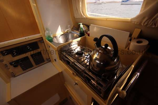 Folkboat Cruising Yacht The galley -