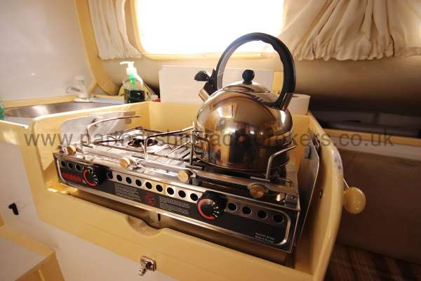 Folkboat Cruising Yacht The galley stove -
