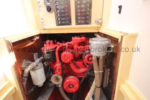 Folkboat Cruising Yacht The engine - a Beta has replaced the original