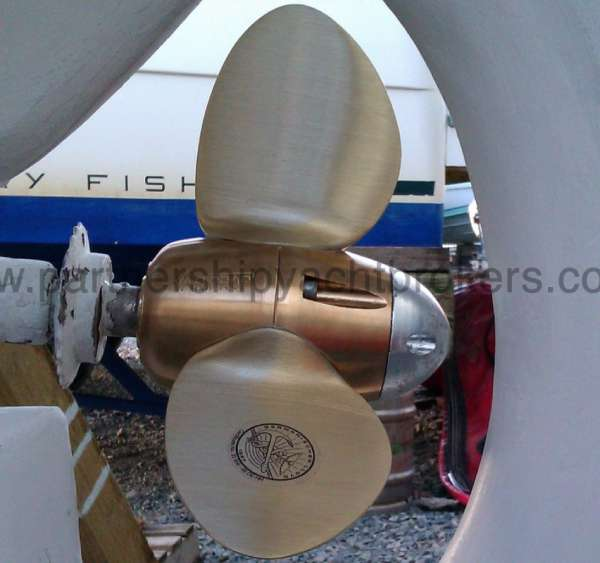 Folkboat Cruising Yacht Feathering propellor - owners pic