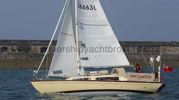 Folkboat Cruising Yacht Under sail - owners pic