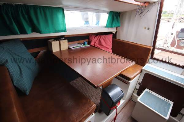 Macwester 27 Saloon view - starboard side