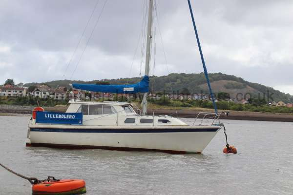 Westerly Konsort Duo On her mooring - starboard side