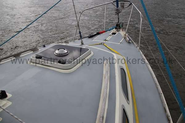 Westerly Konsort Duo Deck view - starboard side