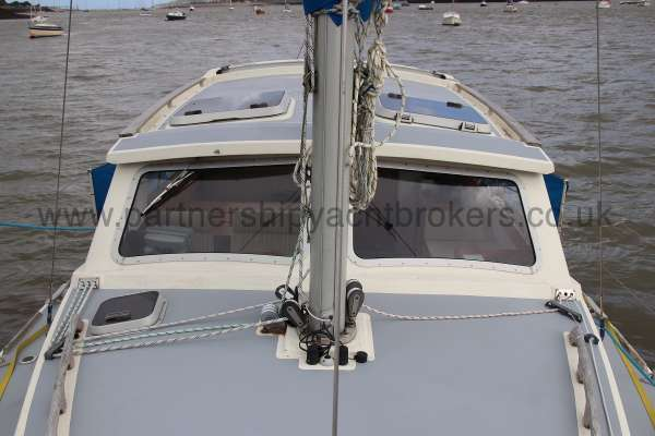 Westerly Konsort Duo Deck view - looking aft to the wheelhouse
