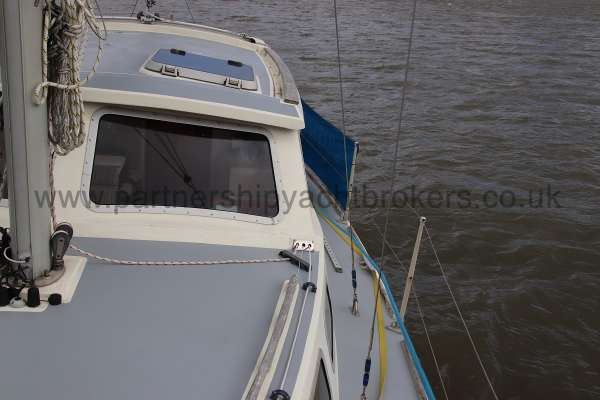 Westerly Konsort Duo Port side deck - looking aft