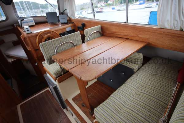 Westerly Konsort Duo The saloon dinette - converts to a double berth