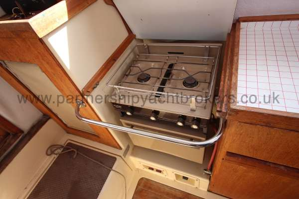 Westerly Konsort Duo The galley stove -
