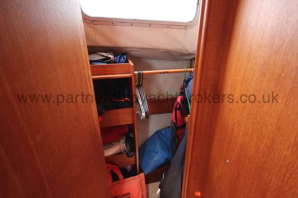 Westerly Konsort Duo A hanging locker - starboard side