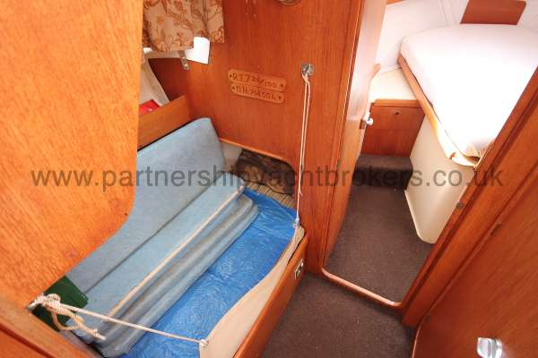 Westerly Konsort Duo The quarter berth  - situated to port
