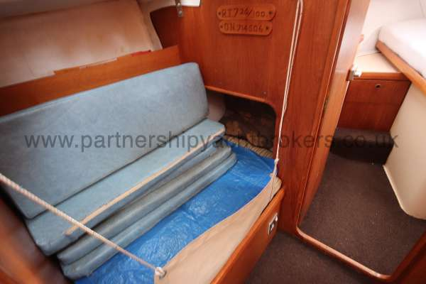 Westerly Konsort Duo The quarter berth - with lee cloth