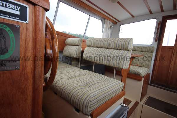 Westerly Konsort Duo Seating at the helm - these seat can be reversed