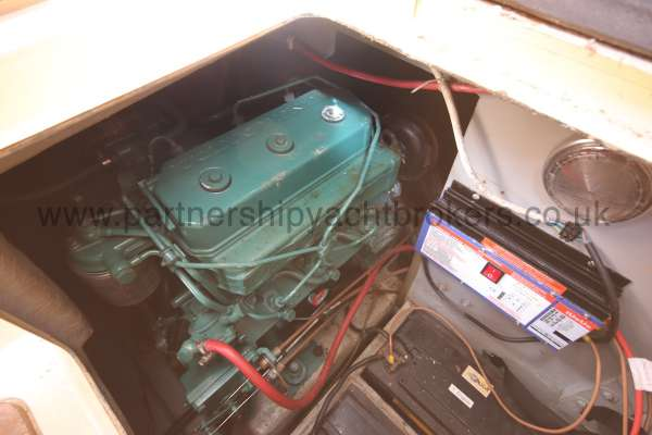 Westerly Konsort Duo The engine compartment -