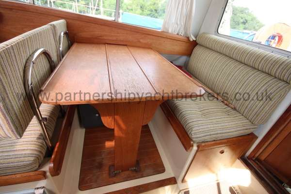 Westerly Konsort Duo The saloon table - can convert to a double berth