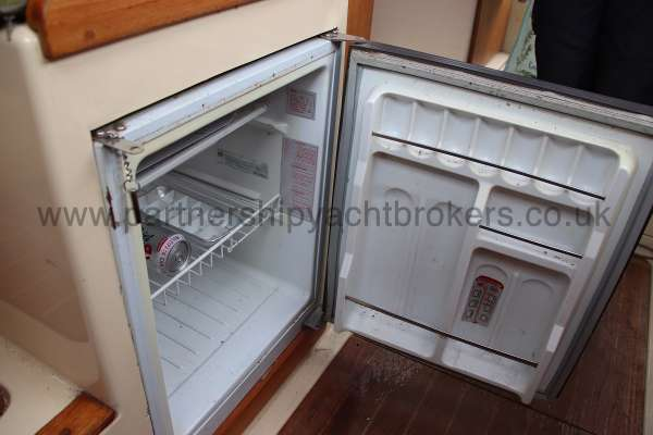 Westerly Konsort Duo The fridge - located opposite the galley