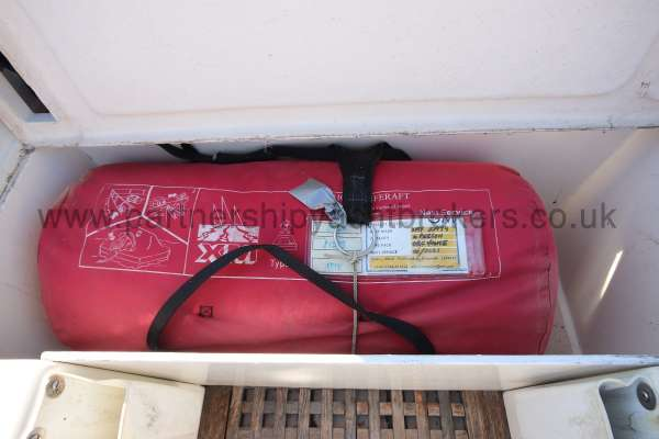 Sigma 33 Life raft close up -