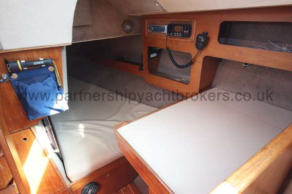 Sigma 33 The quarter berth - port side aft