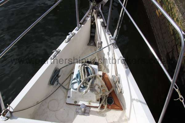 Southerly 105 The anchor windlass -