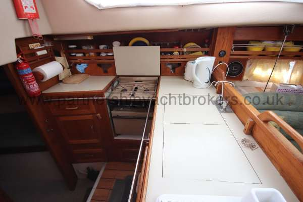 Southerly 105 The galley - located to port