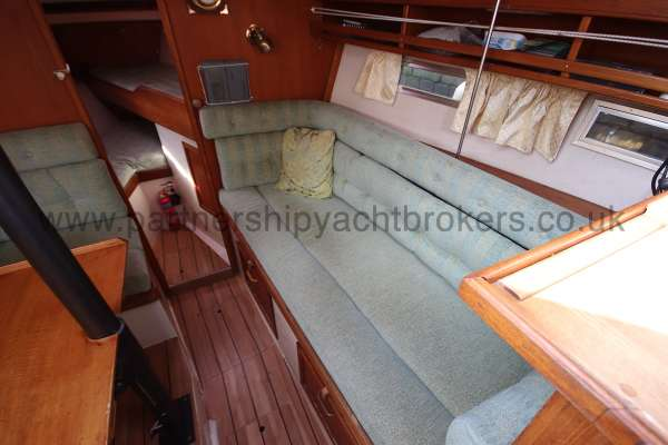 Southerly 105 The starboard settee -