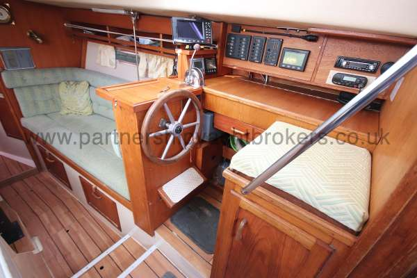 Southerly 105 The inside helm position -