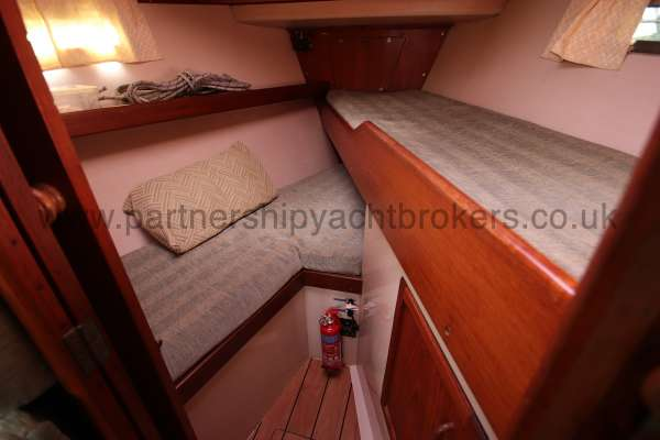 Southerly 105 The fore cabin -