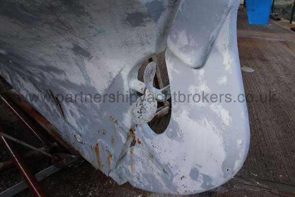 Hillyard Four ton Rudder and propellor -
