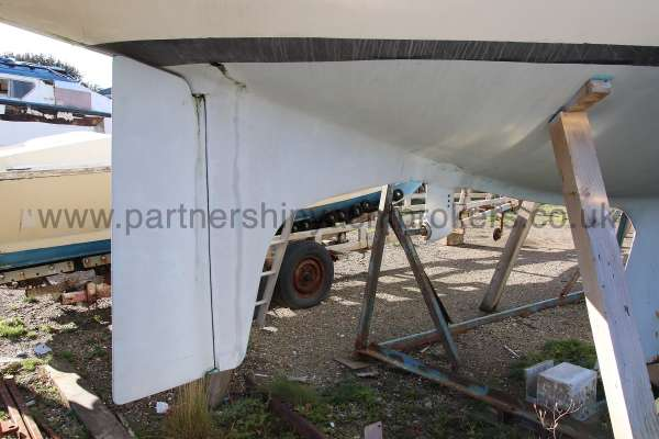 Scampi 30 Close up of rudder -