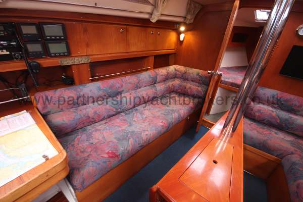 Moody 35 Saloon view - port side settee