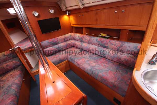 Moody 35 Saloon view - starboard settee
