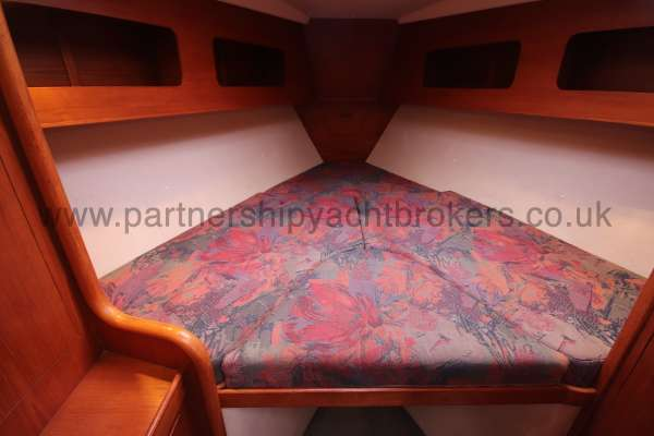 Moody 35 A large double berth -