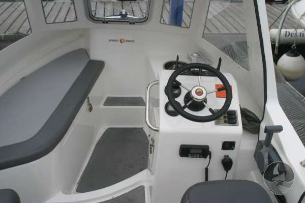 Nord Fisher 170 The view forward -