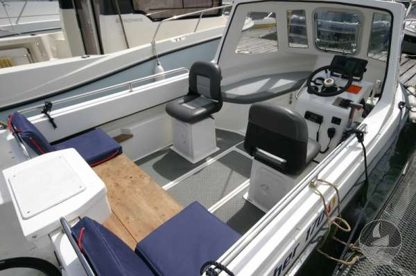 Nord Fisher 170 Deck view looking forward -