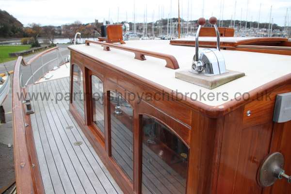 Wooden Classic Motor Yacht Twin Engine Port side deck -