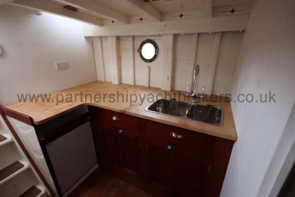 Wooden Classic Motor Yacht Twin Engine The galley - awaiting completion