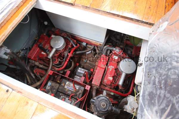 Wooden Classic Motor Yacht Twin Engine The engines and generator - 2x Betas plus Beta generator