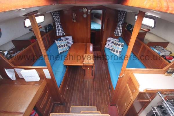Westerly Fulmar The saloon - looking forward
