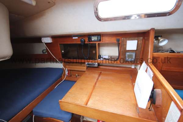 Westerly Fulmar The navigation table - port side aft